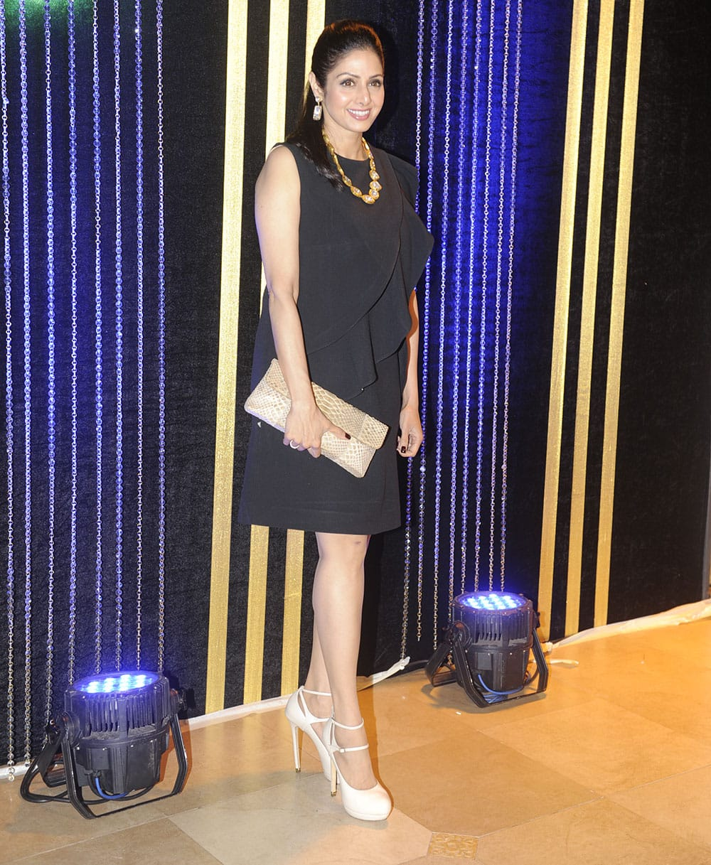 Sridevi at Rakesh Roshan's birthday bash in Mumbai. Pic Courtesy: DNA