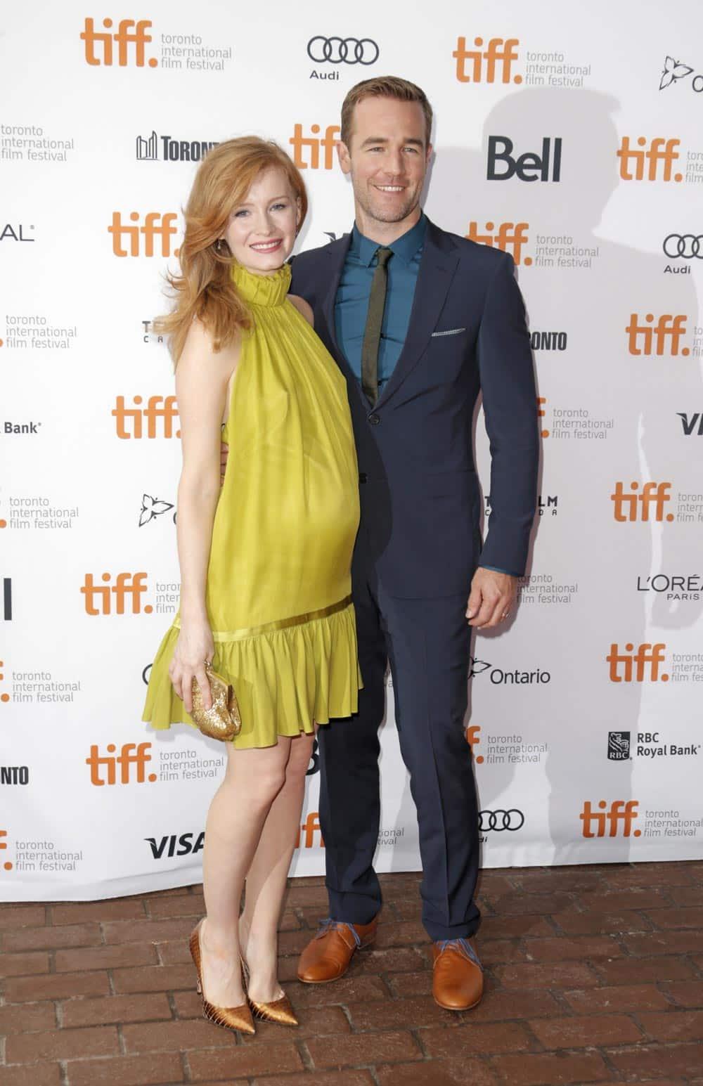 Kimberly Van Der Beek and James Van Der Beek arrive at the premiere of