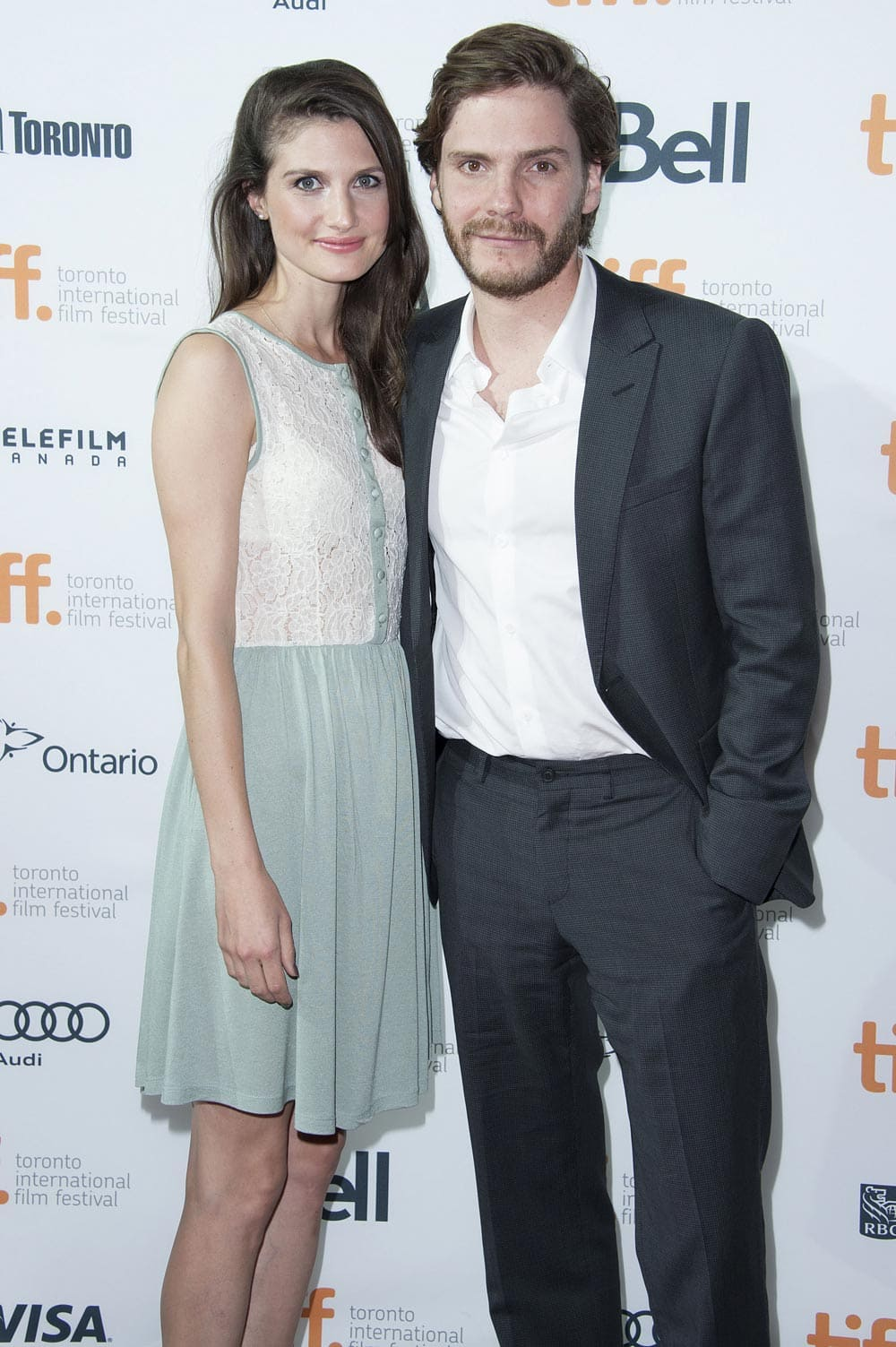 Actor Daniel Brühl and Felicitas Rombold arrive at the premiere of