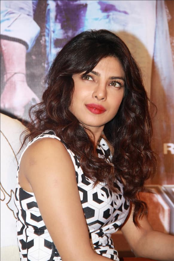 Priyanka Chopra was in the capital to promote her new release 'Zanjeer'.