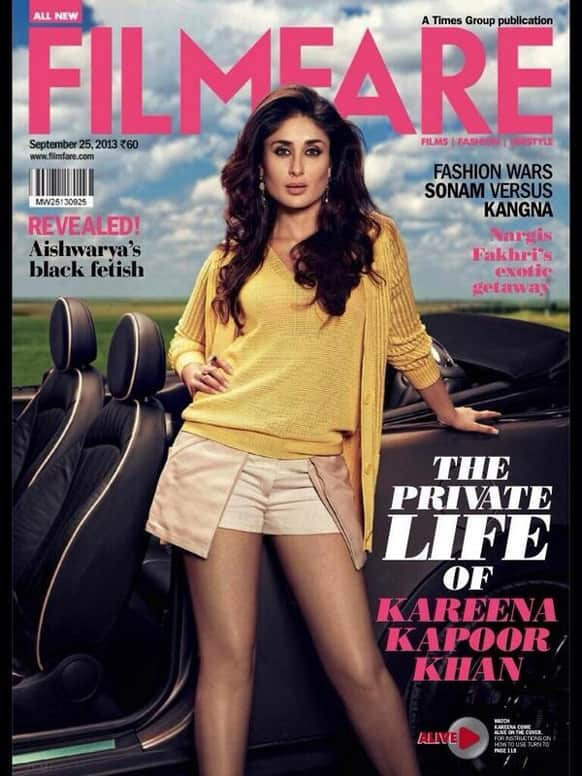 The beautiful and enticing Kareena Kapoor Khan shines on the cover of Filmfare's latest issue.