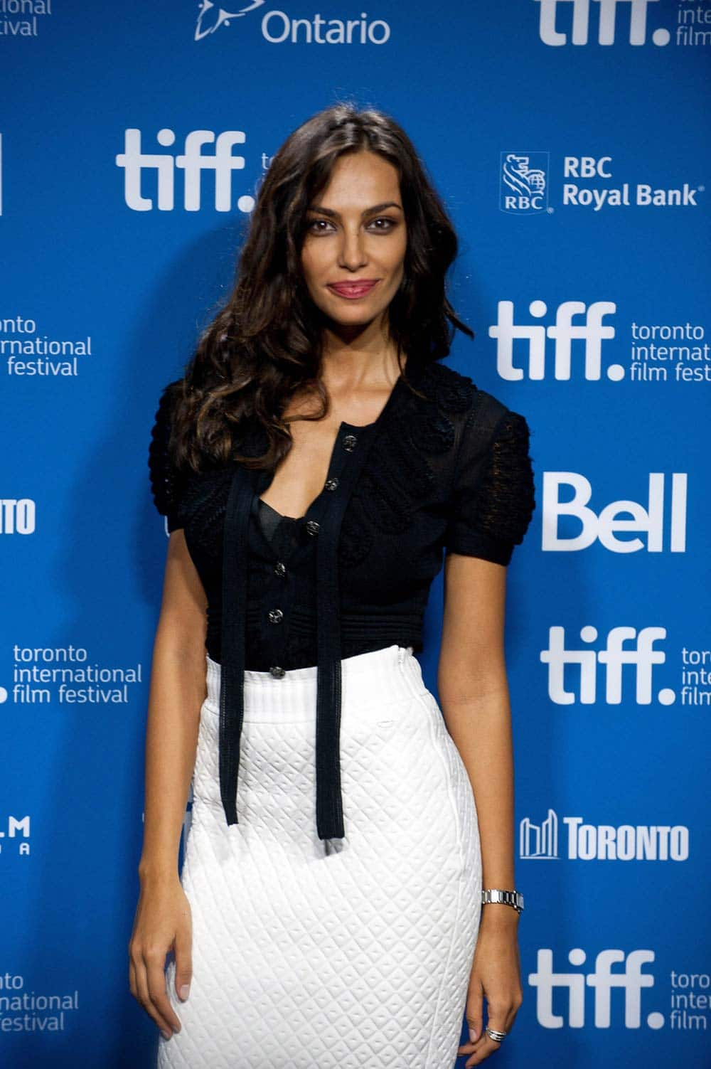 Actress Madalina Ghenea poses for a picture at a photo call for