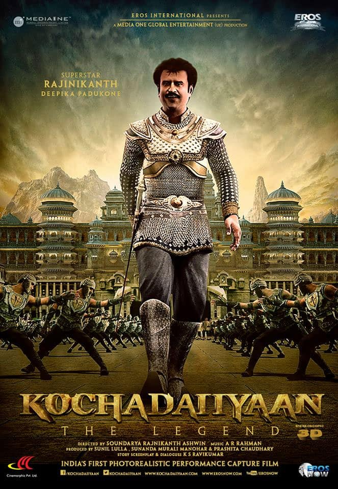 A brand new poster of Rajinikanth's 'Kochadaiiyaan'. Pic courtesy: Facebook