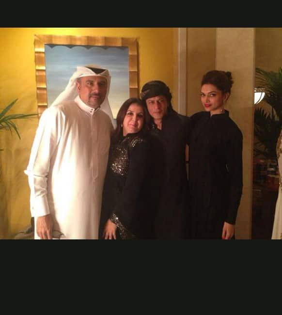 Shah Rukh Khan, Deepika Padukone, Farah Khan and Boman Irani in Dubai for 'Happy New Year'. Pic - @BomanIrani