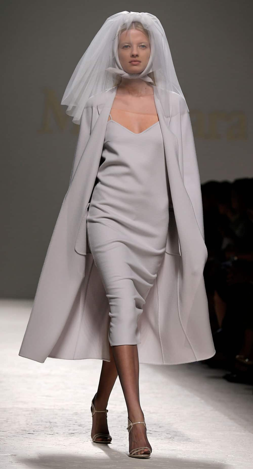 A model wears a creation for Max Mara women's Spring-Summer 2014 collection, part of the Milan Fashion Week.