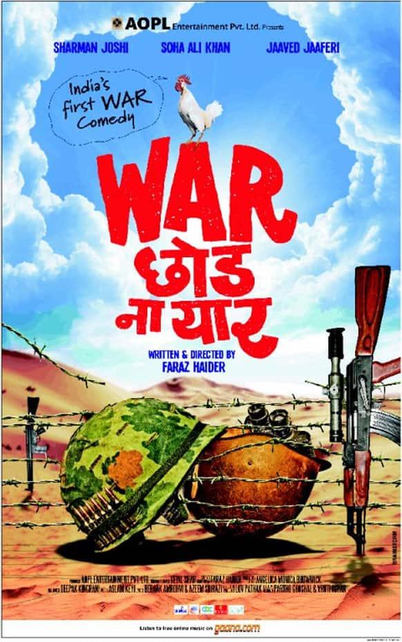 The poster of 'War Chod Na Yaar' starring Sharma Joshi and Soha Ali Khan