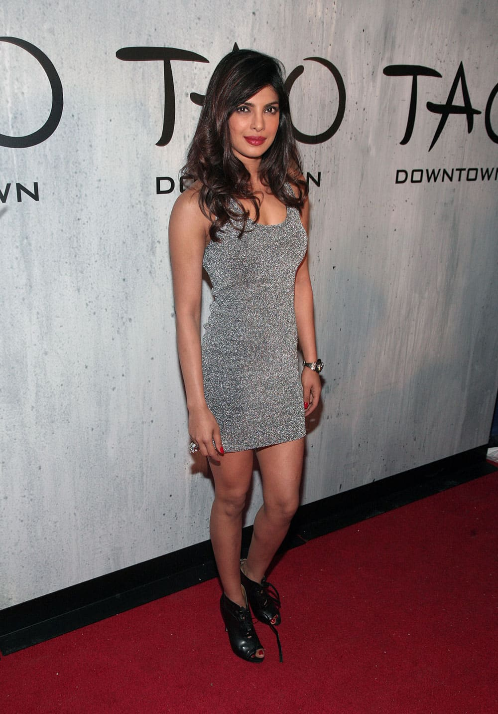 Actress Priyanka Chopra attends the TAO New York Downtown Opening Party.