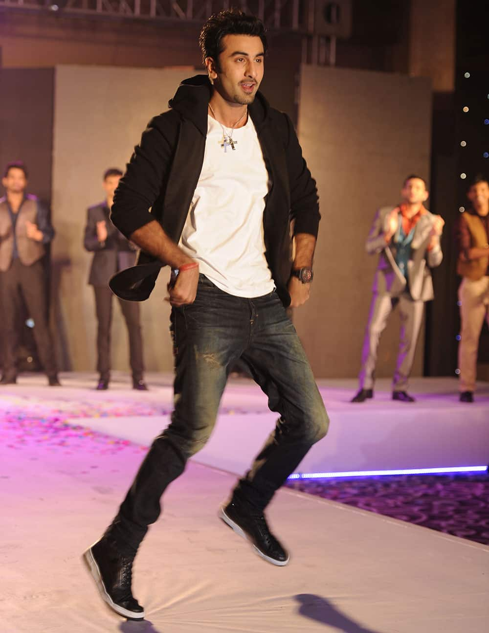 Ranbir Kapoor at the unveiling of Indigo Nation new collection in Mumbai. Pic Courtesy: DNA