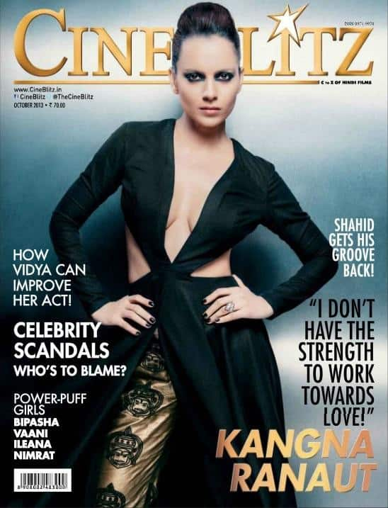 Kangana Ranaut talks about love and relationships in the new issue of Cineblitz magazine.