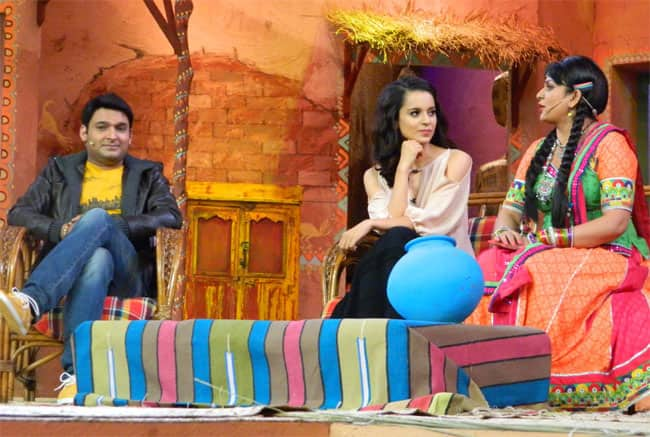 Kangana Ranaut on the sets of Kapil Sharma's 'Comedy Nights With Kapil'.