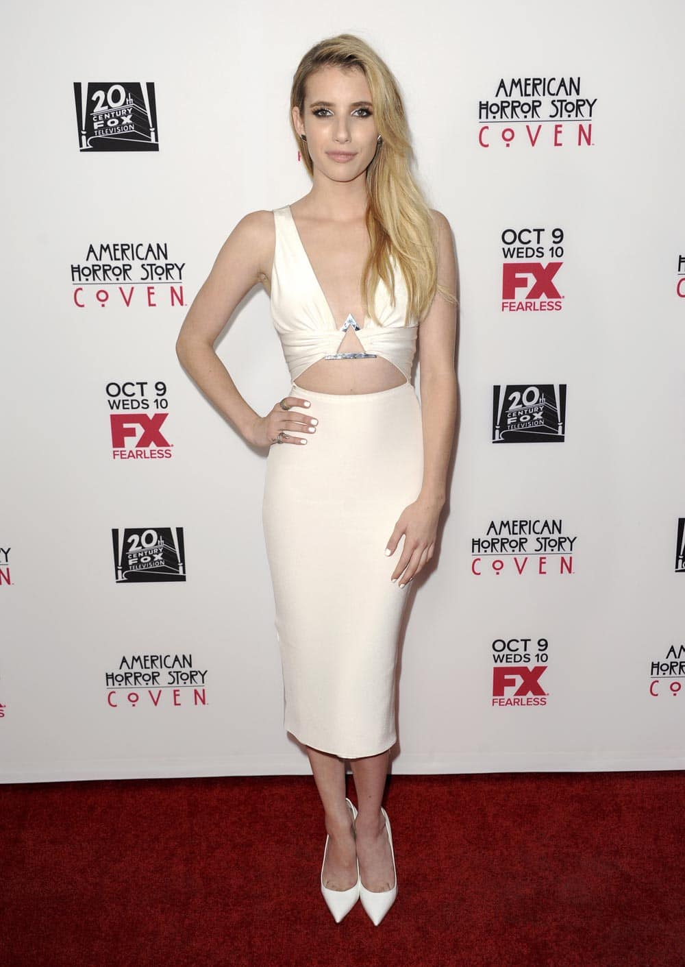 Emma Roberts arrives at the premiere screening of