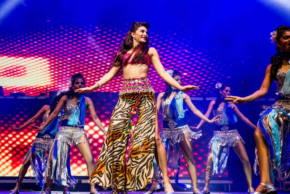 Jacqueline Fernandez during her performance at the gala event.