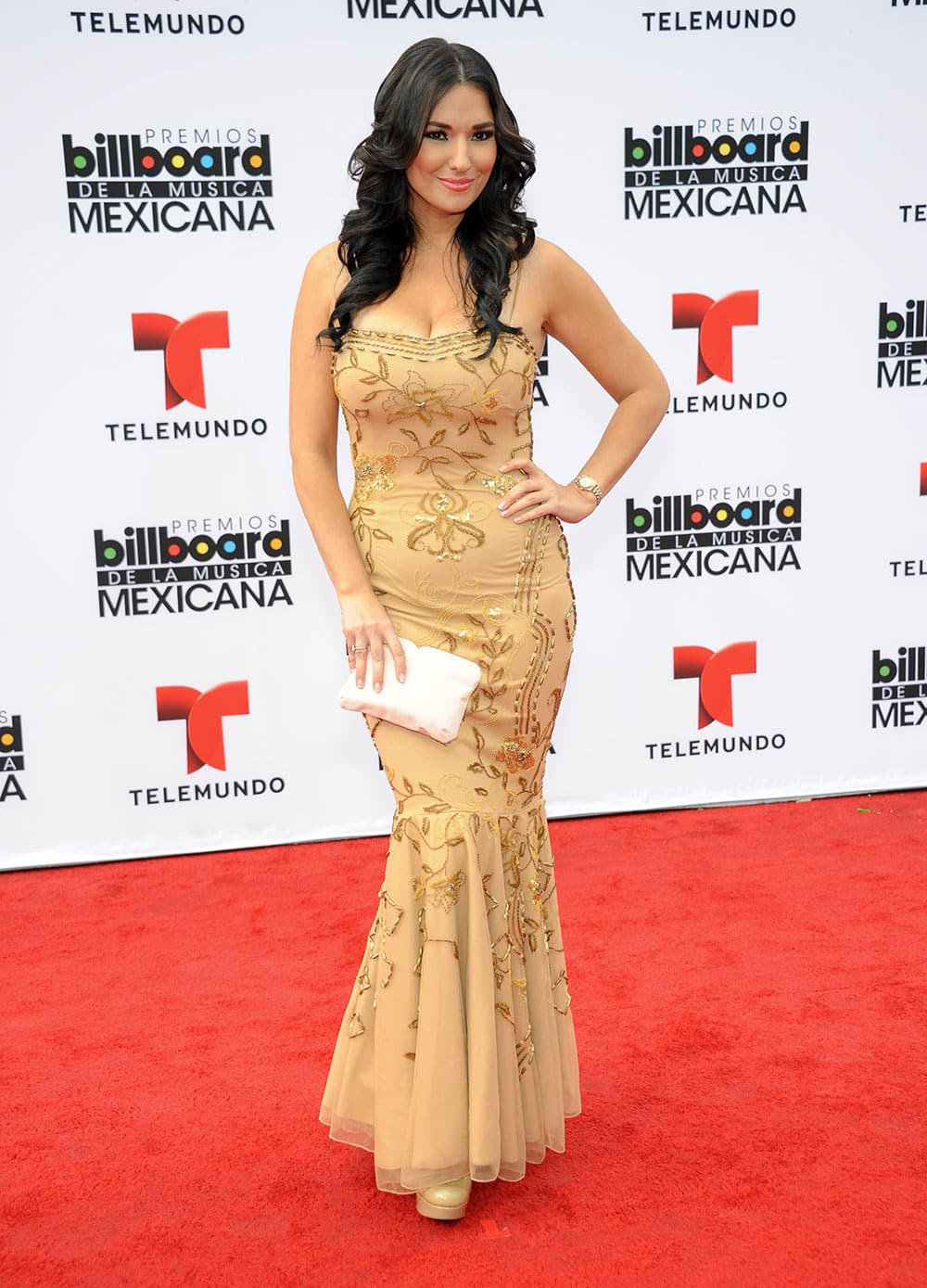 Estefania Iglesias arrives at the 3rd Annual Billboard Mexican Awards at The Dolby Theatre in Los Angeles.