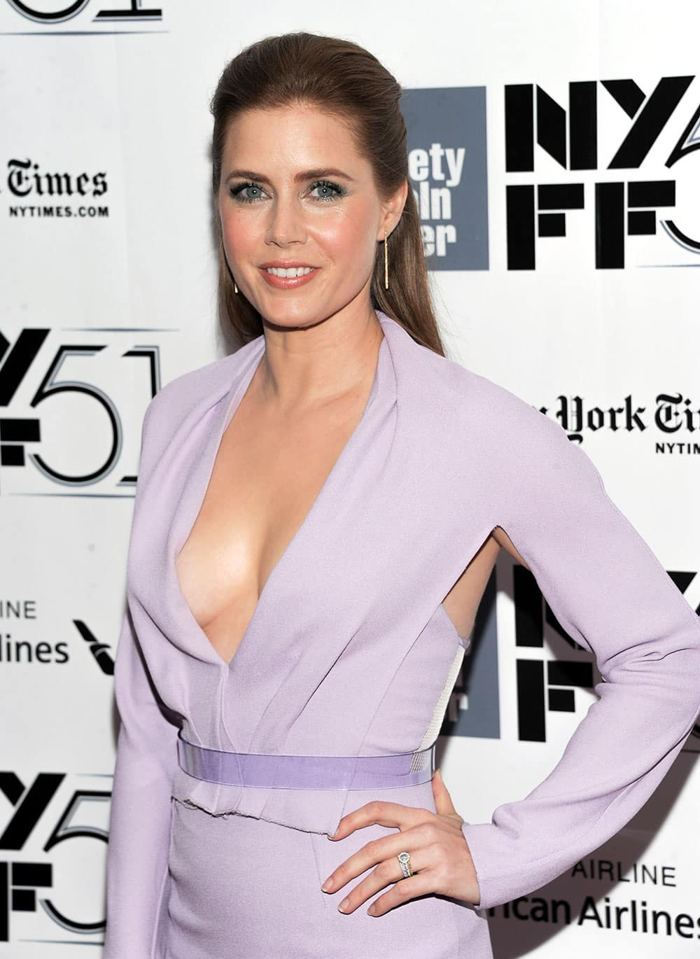 Actress Amy Adams attends the 51st annual New York Film Festival closing night screening of