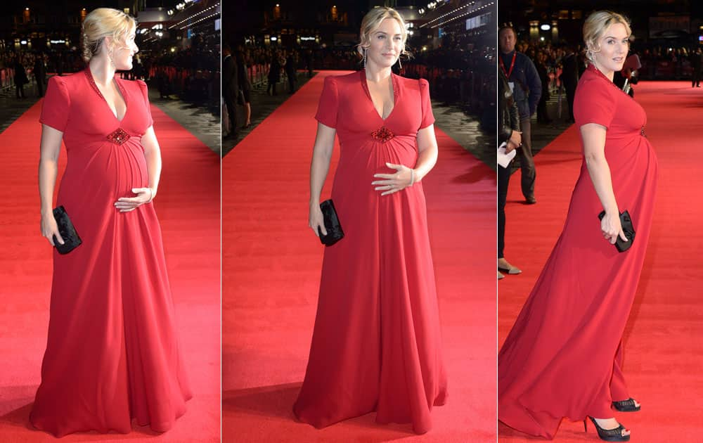Actress Kate Winslet arrives at the May Fair Hotel Gala Premiere of