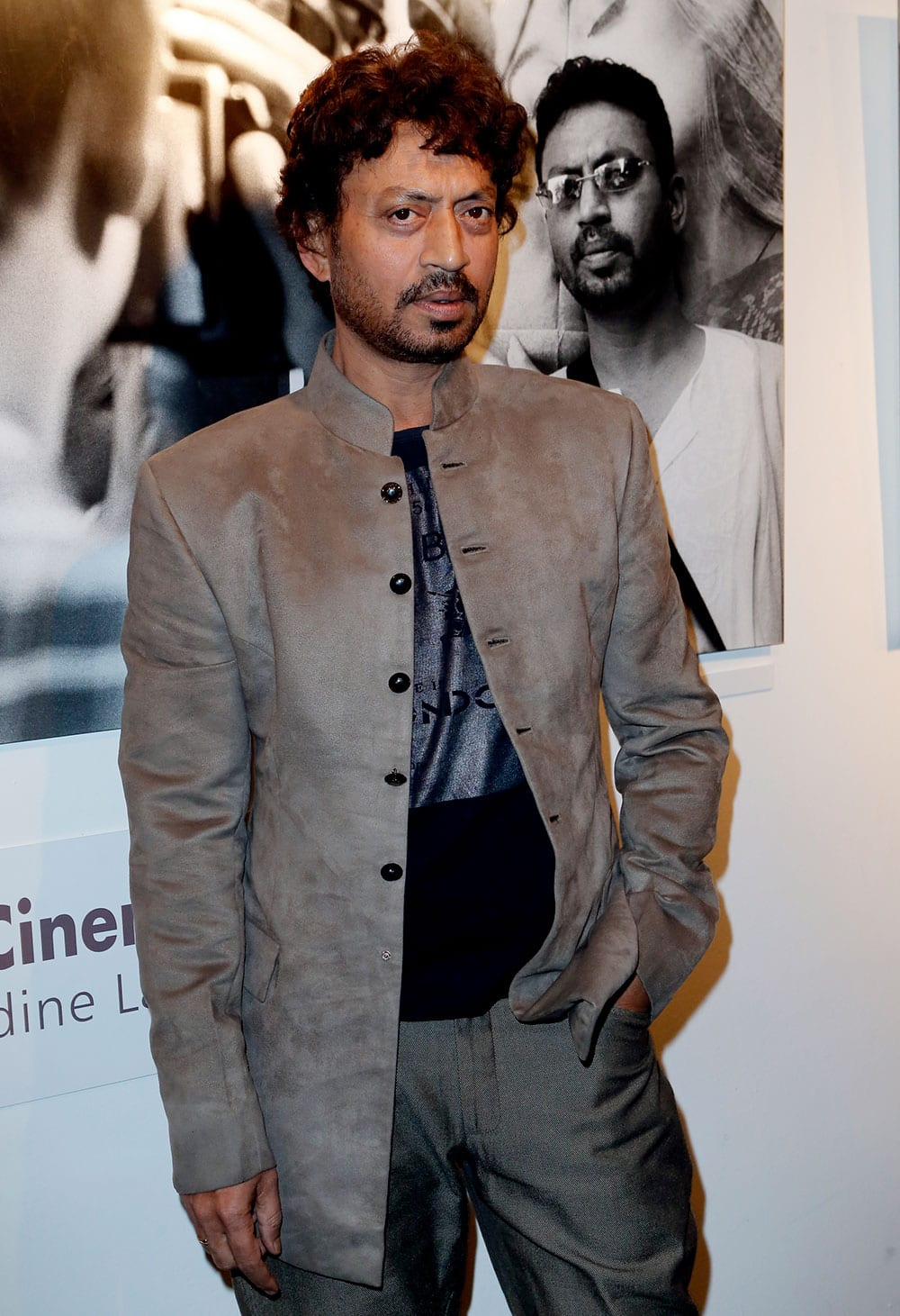 Irrfan Khan poses for photographers as he arrives for Extravagant India!, the international Indian Film Festival in Paris.