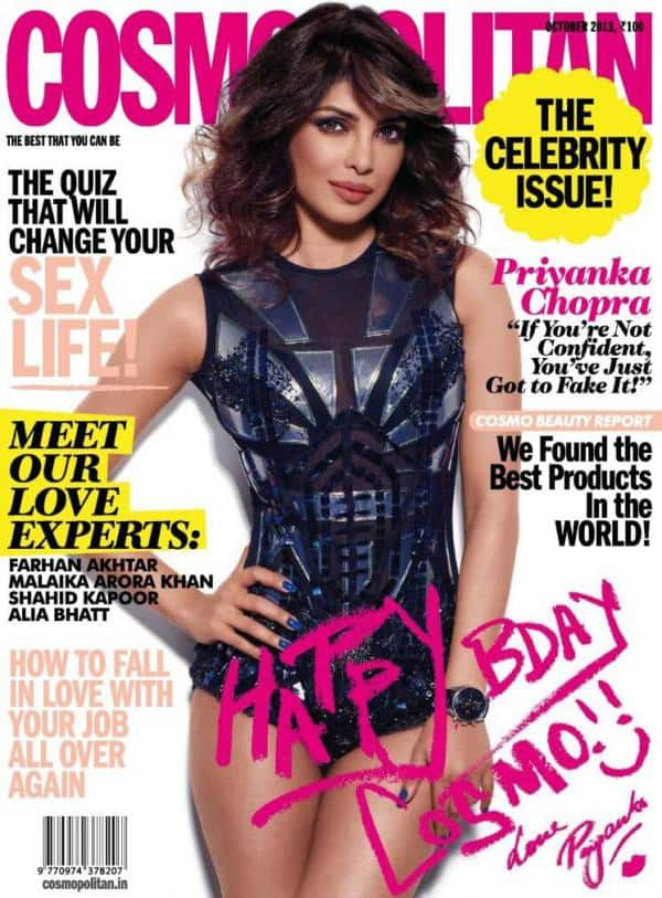 Priyanka Chopra graces the cover page of the Cosmopolitan October 2013 issue.