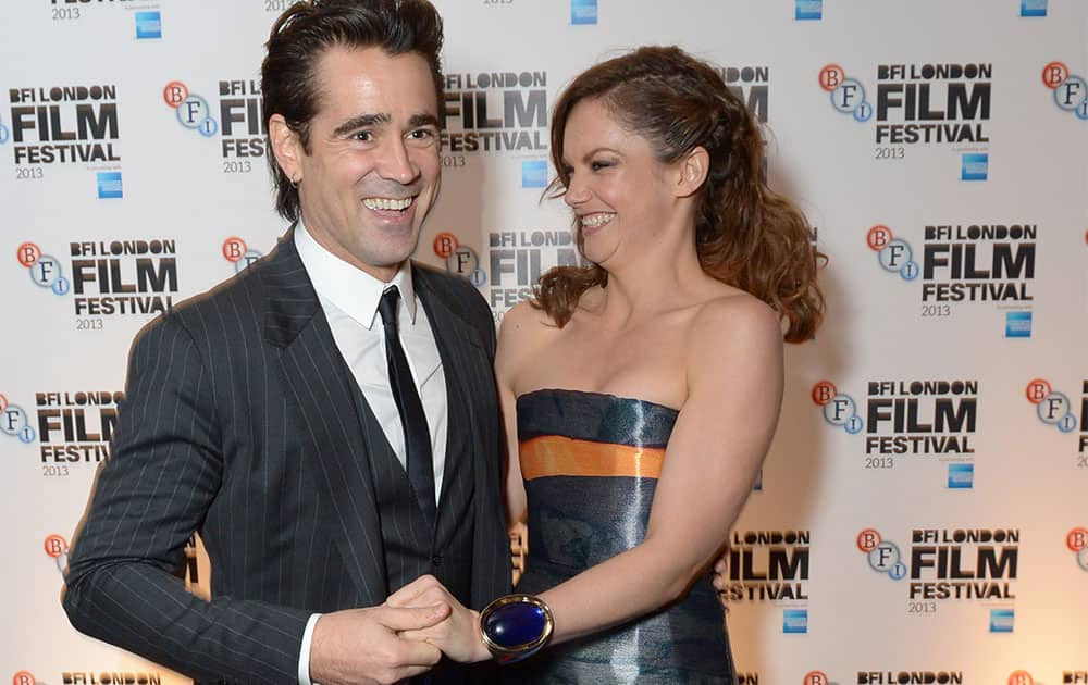 Irish Actor Colin Farrell and English actress Ruth Wilson attend the 57th BFI London Film Festival Closing Night Gala After Party at the Old Billingsgate, in London.