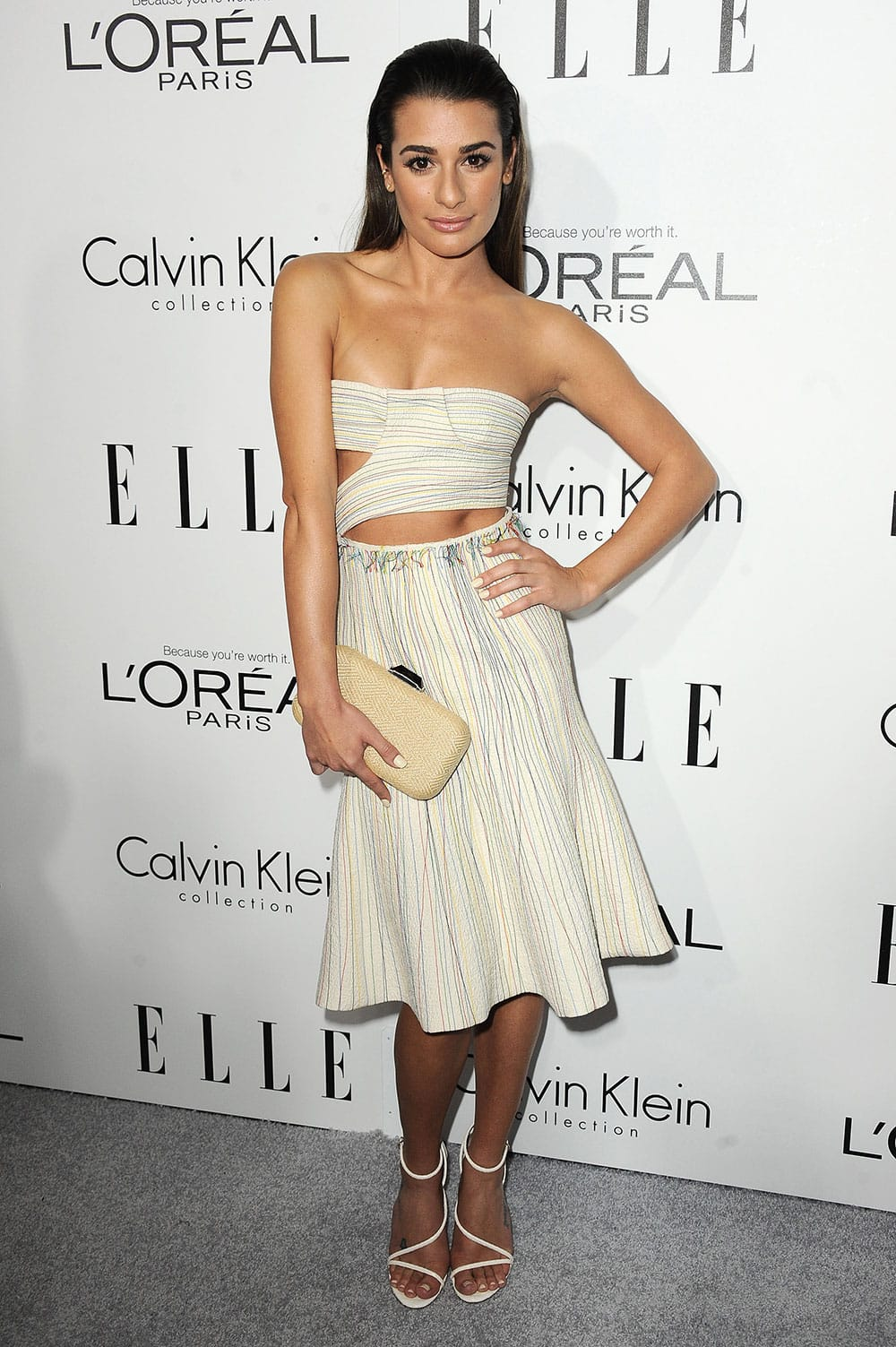 Actress Lea Michele arrives at the ELLE 20th annual