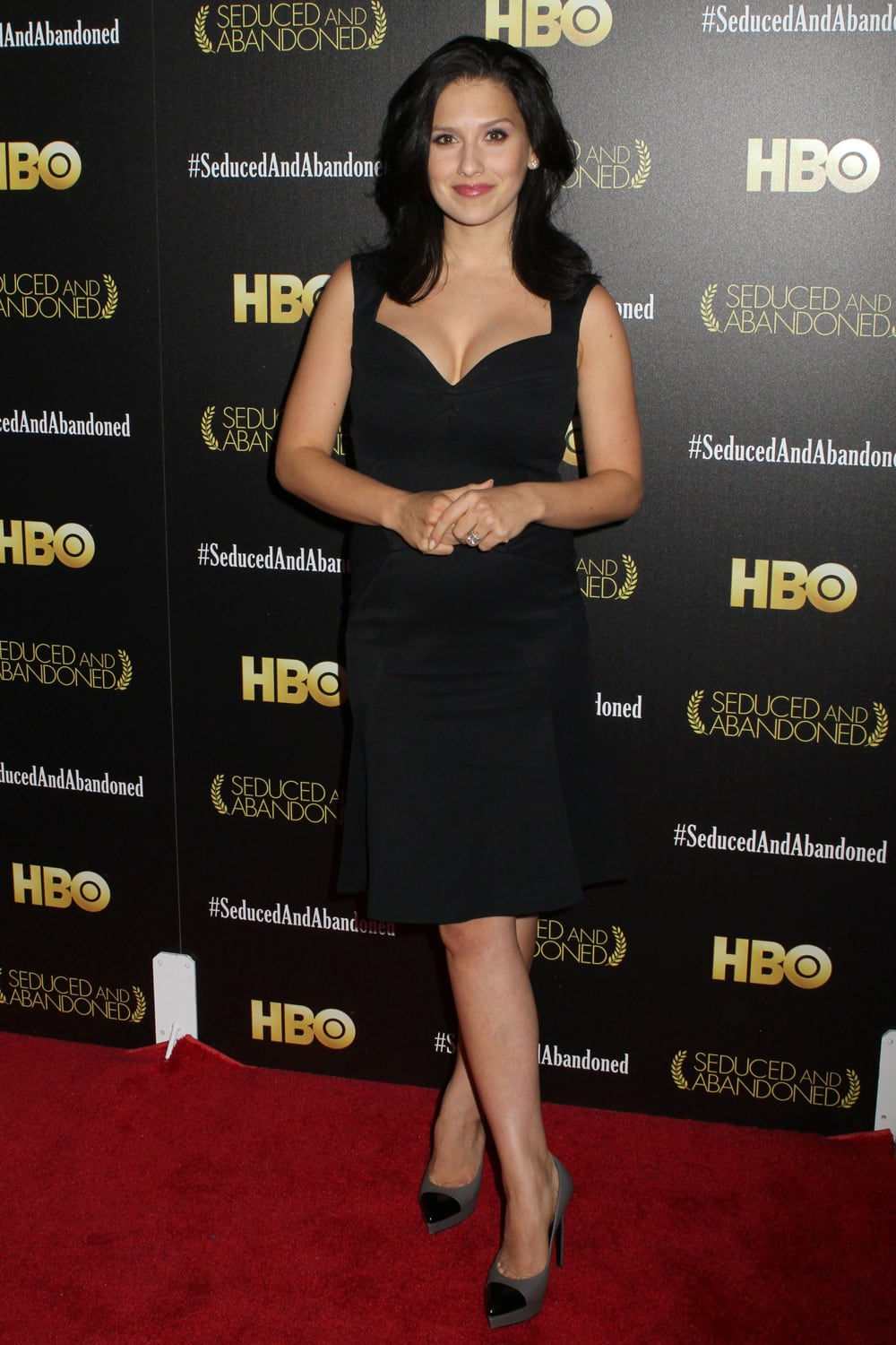 Hilaria Baldwin attends the HBO premiere of