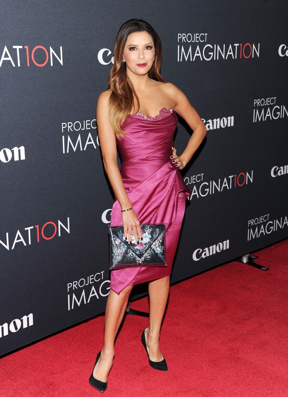 Actress Eva Longoria attends the global premiere of Canon's