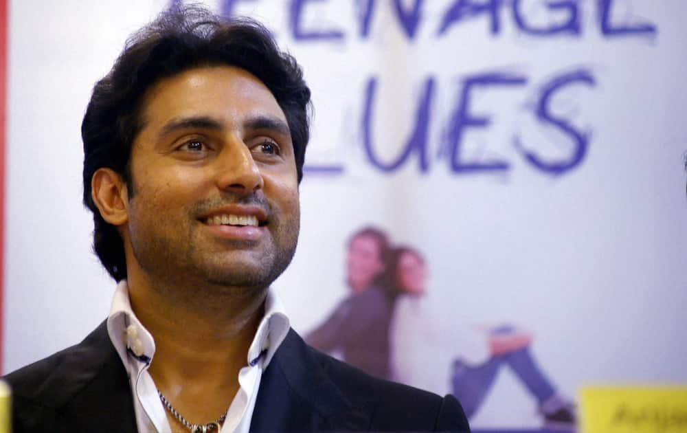 Abhishek Bachchan during the launch of book.