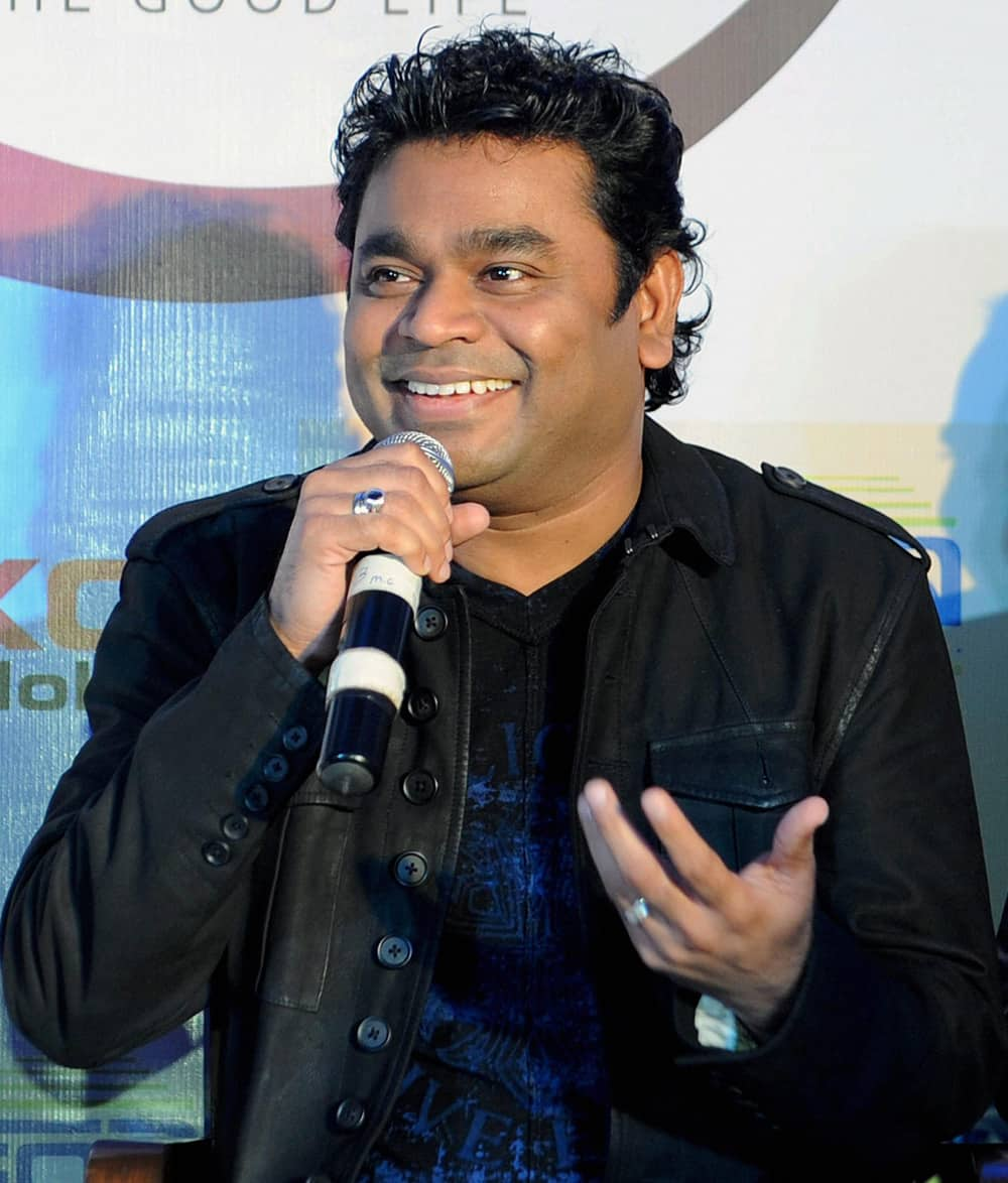 A.R.Rahman during a launch event in Ahmedabad.