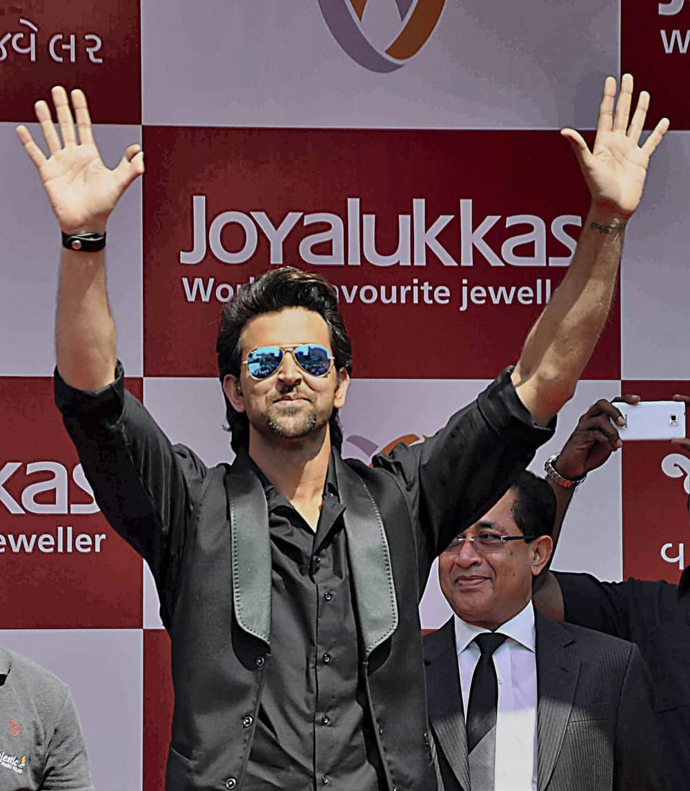Hrithik Roshan during a launch event in Ahemdabad.