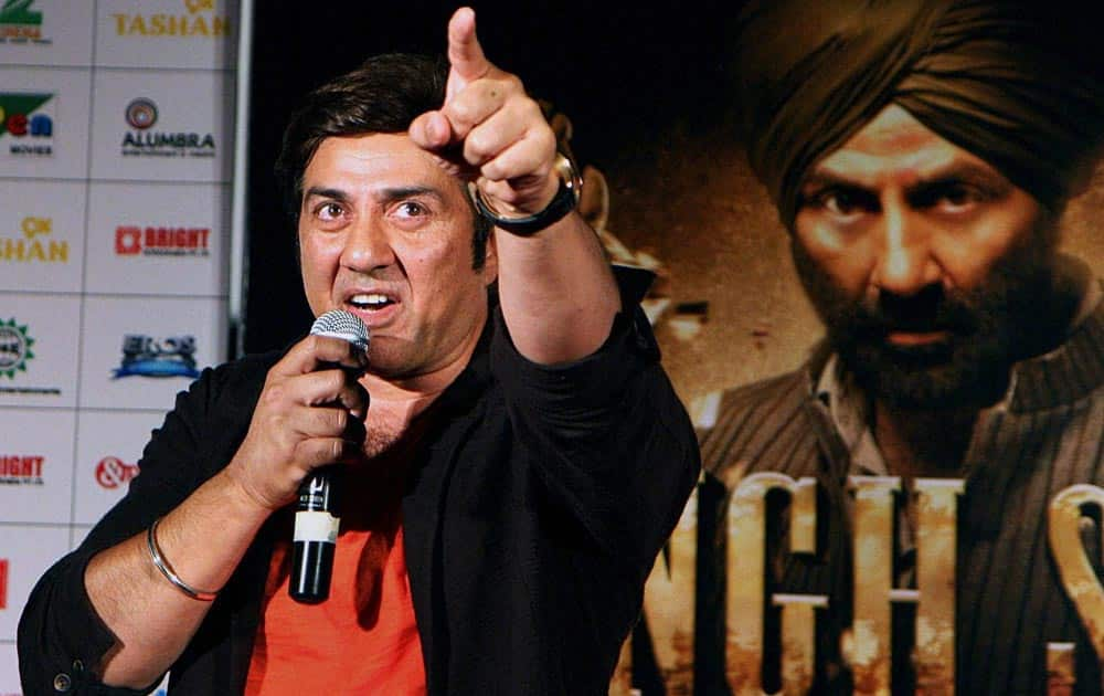 Bollywood actor Sunny Deol during the music launch of his upcoming film 'Singh Saab The Great' in Mumbai.