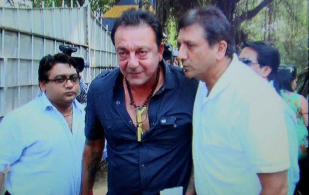 Actor Sanjay Dutt who was granted 28 days of furlough (leave from the jail) is back at Pune's Yerwada jail.