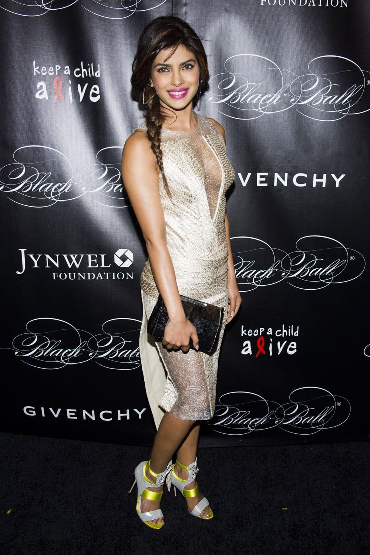 Priyanka Chopra attends Keep a Child Alive's 10th Annual Black Ball, in New York.