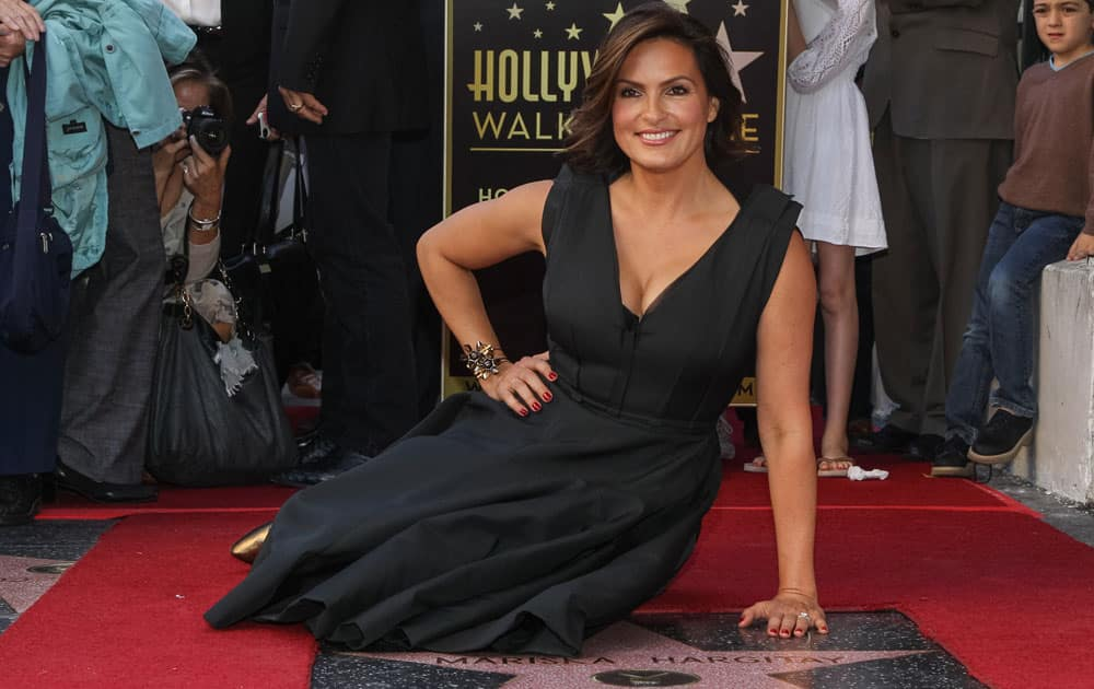 Actress Mariska Hargitay is honored with a star on the Hollywood Walk of Fame, in Los Angeles.