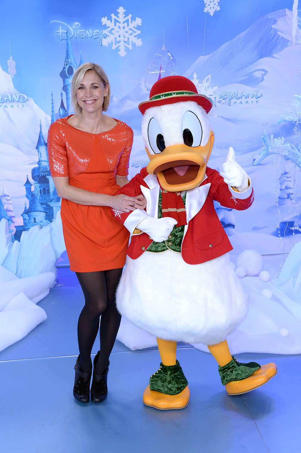 Jenni Falconer joins Donald Duck on the