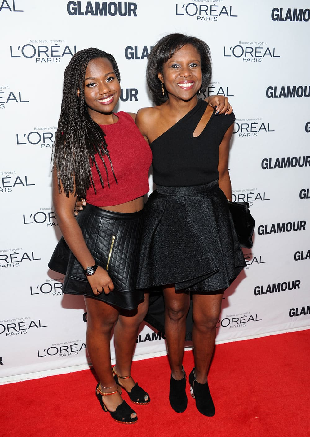Television journalist Deborah Roberts and her daughter Leila Roker attend the 23rd Annual Glamour Women of the Year Awards hosted by Glamour Magazine at Carnegie Hall in New York.