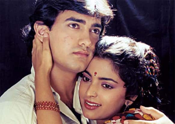 Here's another sweet picture of Juhi with one of her best co-stars Aamir.