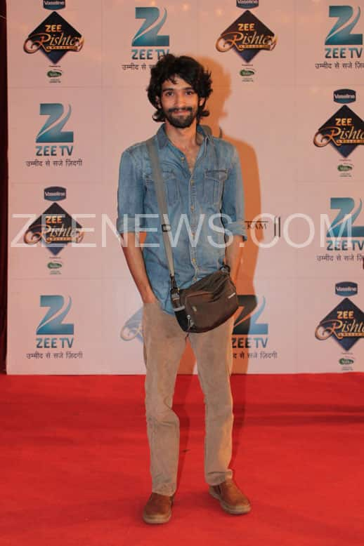 Vikrant Massey on the Red Carpet of Zee Rishtey Awards.
