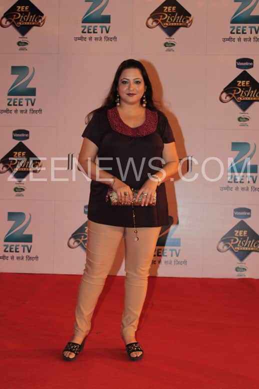 Surbhi Tiwri on the Red Carpet of Zee Rishtey Awards.