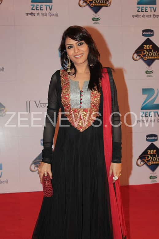 Anjali on the Red Carpet of Zee Rishtey Awards.