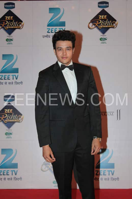 Aniruddh Dave on the Red Carpet of Zee Rishtey Awards.