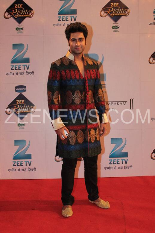 Ankit Gera on the Red Carpet of Zee Rishtey Awards.