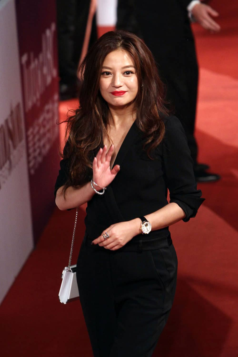 Chinese actress Vicki Zhao poses on the red carpet at the 50th Golden Horse Awards in Taipei, Taiwan.