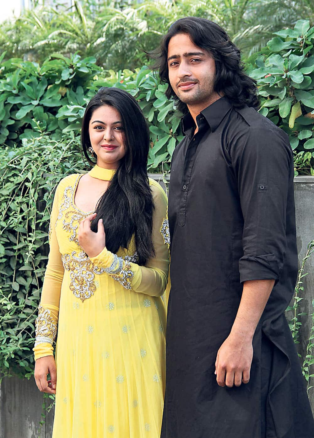 Actors Shaheer Sheikh (Arjun) and Shafaq Naaz (Kunti) of 'Mahabharata' tele-serial were present in the city to meet Amdavadis. Pic Courtesy: DNA