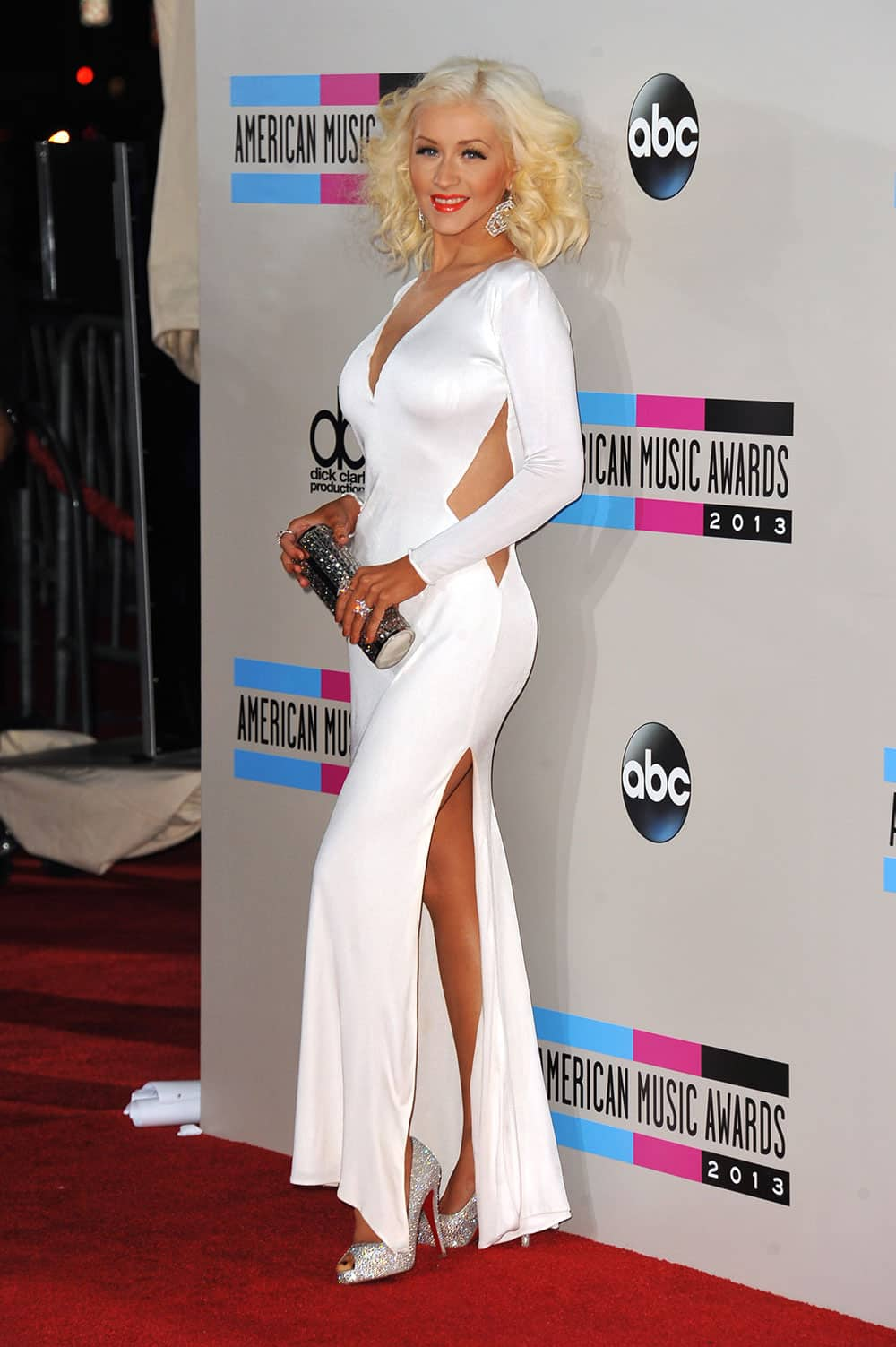 Christina Aguilera arrives at the American Music Awards at the Nokia Theatre L.A.