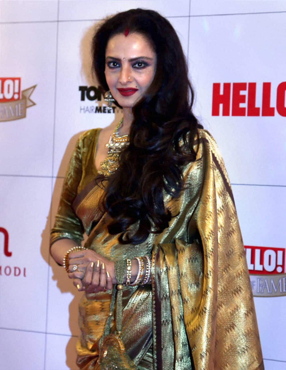 Bollywood actress Rekha at an awards function in Mumbai.