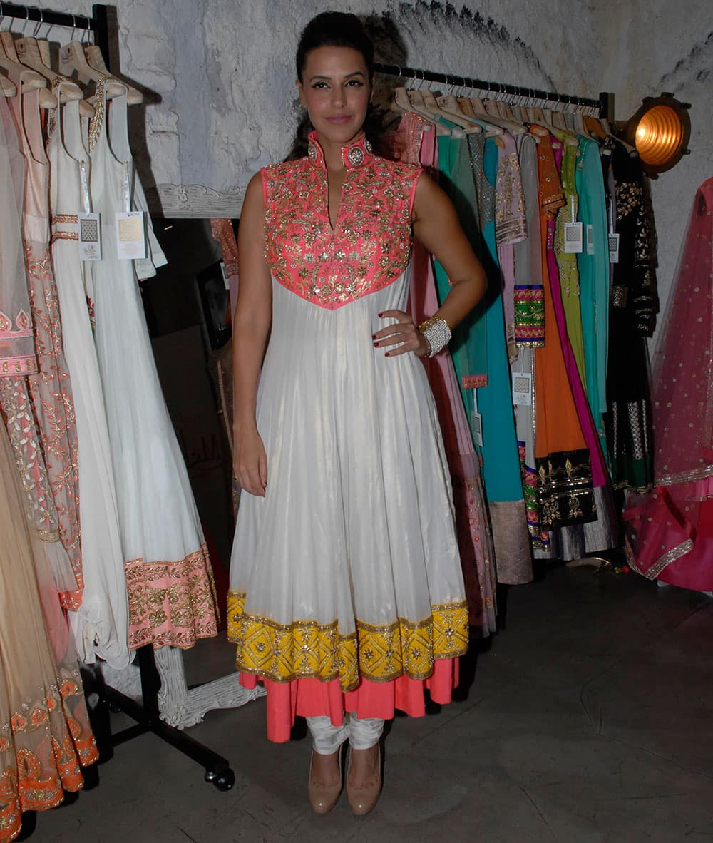 Neha Dhupia at the launch of The Wedding Souk Collection 2013 at Kala Ghoda in Mumbai. Pic Courtesy: DNA