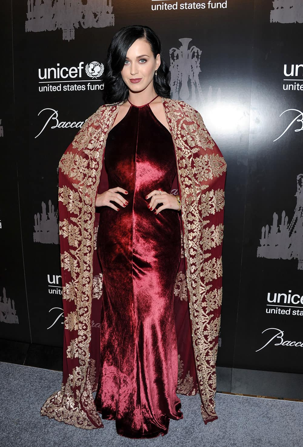 Singer and UNICEF Goodwill Ambassador Katy Perry attends the ninth annual UNICEF Snowflake Ball at Cipriani Wall Street in New York.