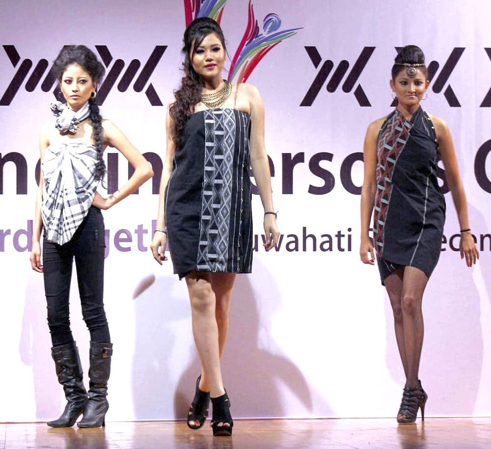 Models walk the ramp during Anti Trafficking-in-Persons Conclave at Guwahati.