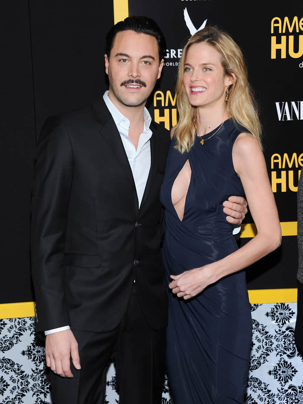 Actor Jack Huston and girlfriend model Shannan Click attend the premiere of