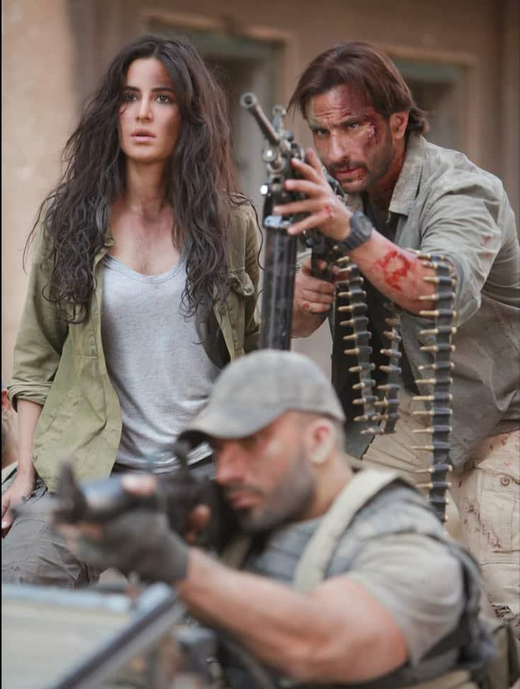 Movie stills `Phantom` - Saif Ali Khan and Katrina Kaif