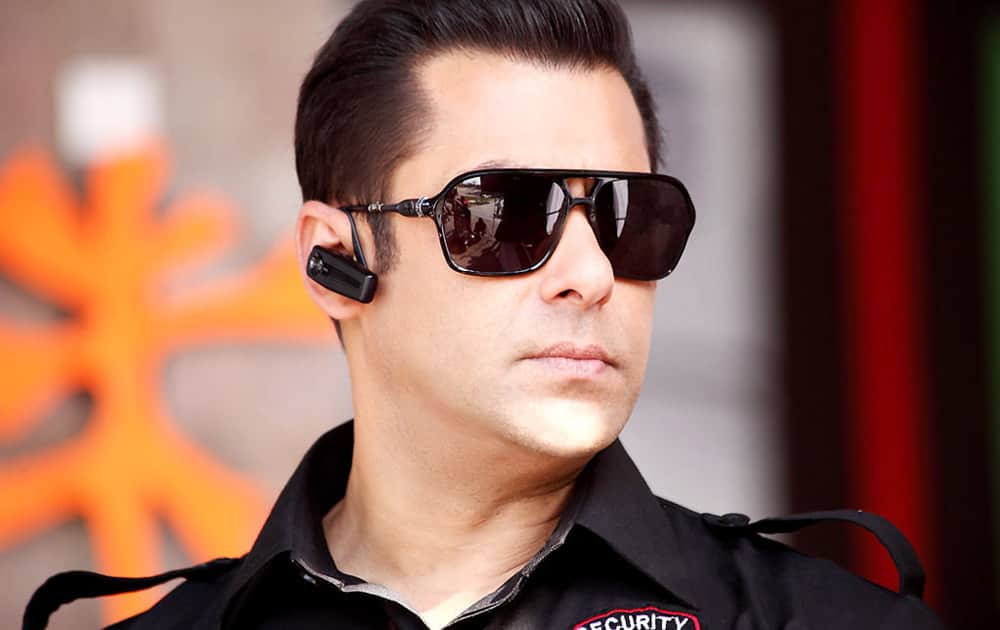 Salman khan in a still from 'Bodyguard' which became biggest grosser ever for a single day in 2011